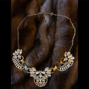 Costume faux large diamond necklace